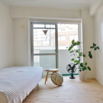 寝室側には植物なんか飾っちゃいましょう!
