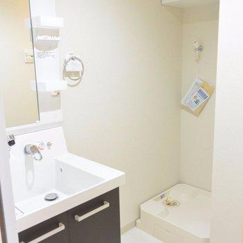 洗面台に洗濯機置き場※写真は別部屋になります。