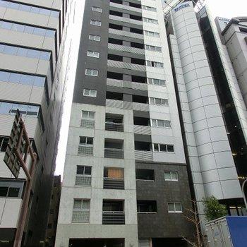 駅の出入り口から数歩の距離にある建物です。