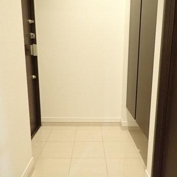 玄関はフラットに見えて段差があります。
