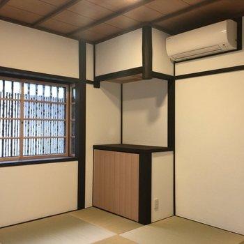 和室にもしっかりエアコン。