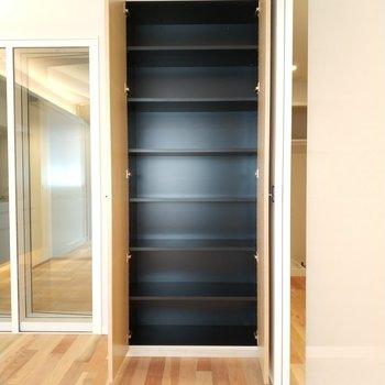 リビングにある収納②※写真は4階の同間取り別部屋のものです