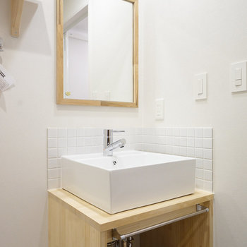 洗面台もお手製のナチュラルなデザイン◎※写真は前回募集時のものです。