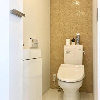 トイレには洗い場付き。※写真は前回募集時のものです