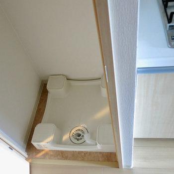 洗濯機置場です!※写真は13階の同間取り別部屋のものです