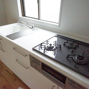 新品キッチンは3口ガスコンロ!