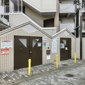 ゴミ置き場、そして駐輪場もありますよ