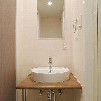 洗面所が、これ、かわいい〜〜!!