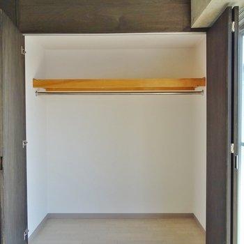 クローゼットの大きさはまずまず※写真は別室です。