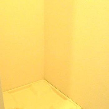 トイレの置くに洗濯機置き場がありあす。 ※写真は別部屋