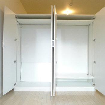 収納BOXは大容量です。 ※写真は別部屋