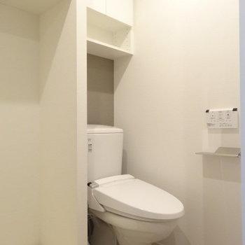 サニタリー向かって右側がトイレ
