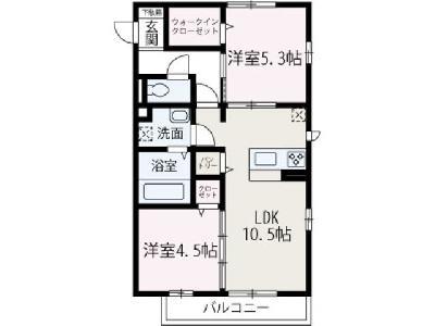 仮称)渡辺本町新築アパート の間取り