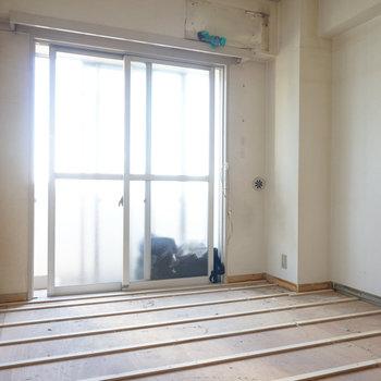 寝室はこちら。※写真は工事中です
