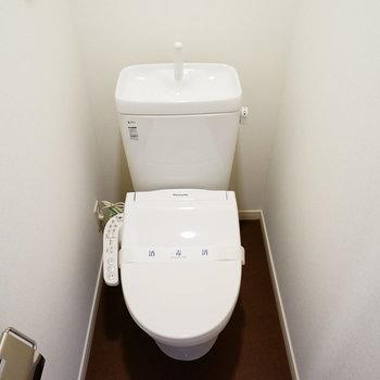 トイレは新品ウォシュレット付き!※写真はイメージです