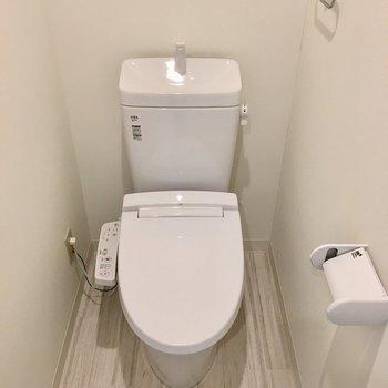 トイレもウォシュレット付き。広めです。