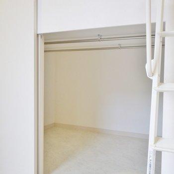 下は収納スペース。。※写真は同一フロアーの別室