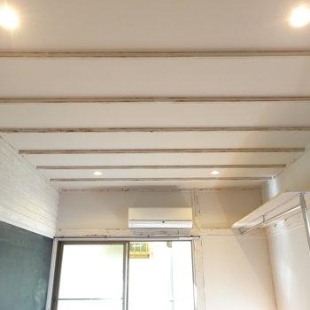 天井のダウンライトがかわいい