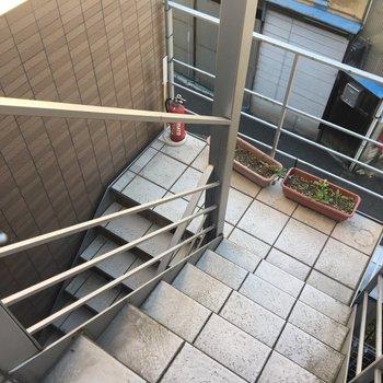 共用部は階段です!