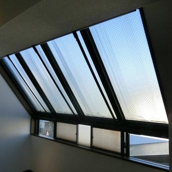 ロールカーテン付きの窓※前回募集時の写真です。