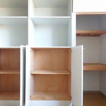 7帖の洋室の収納。(5.5帖の方もこんな感じの収納あります)*写真は同間取りの別部屋です