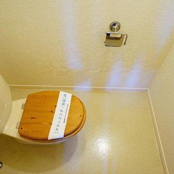 トイレは木製便座に♪※写真は前回募集時のものです