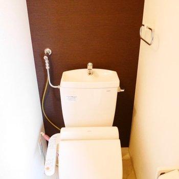 トイレはきちんとウォシュレット付き