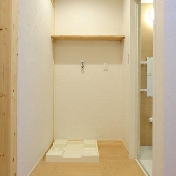 竹タイルの床で温泉の脱衣所みたい※写真は前回掲載時のものです。