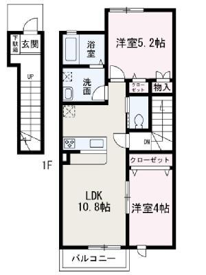 和光市新倉新築アパート(仮) の間取り
