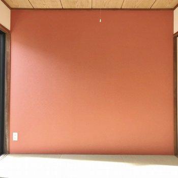 和室の壁の渋さ