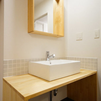洗面はかわいらしく、ね。※写真はイメージ