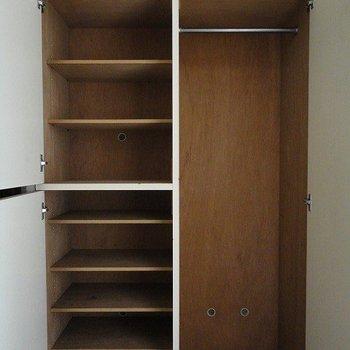 靴箱と収納スペースですね。※写真は前回募集時のものです