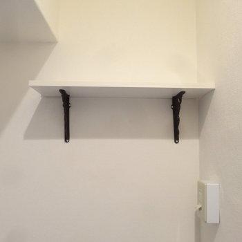 上の棚にはオシャレな洗剤を置きたい。