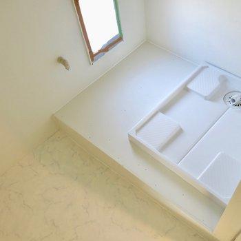 洗濯機用の部屋があります