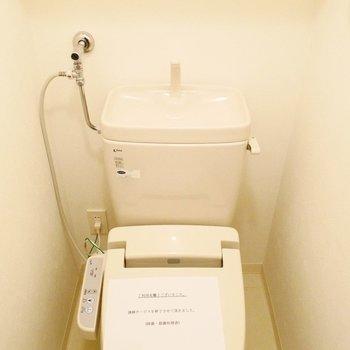 ウォシュレット付きのシンプルなトイレです※写真は前回募集時のものです