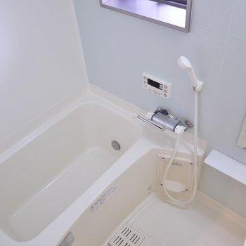 窓と追い焚き機能付きバスルーム※写真は、同タイプの別室。
