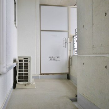 バルコニーは広いです。※写真は、同タイプの別室。