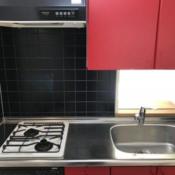 キッチンは赤!!
