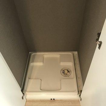 洗濯機は扉で隠せますよ