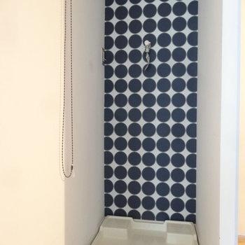 洗濯パンはロールカーテンで隠せちゃうの。