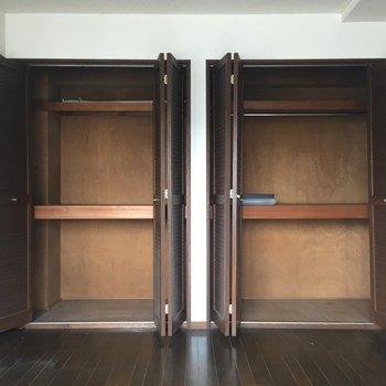 収納がふたつも※写真は2階の反転間取り別部屋ものです