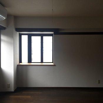 二面採光です。※写真は通電していないものとなります。※写真は2階の反転間取り別部屋ものです