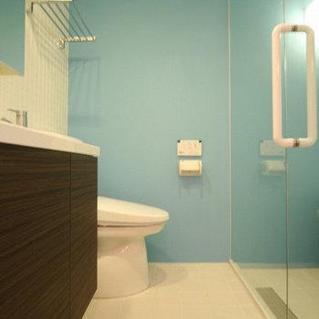 トイレは洗面台のお隣。※写真は前回募集時のものです