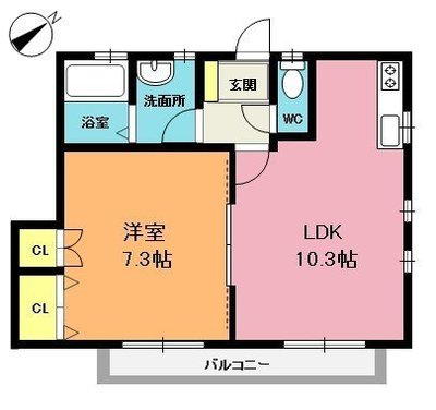 K・Sアパートの間取り図