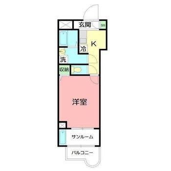サンルーム付きのお部屋。