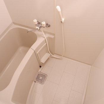 浴室もちょうど良いサイズ。