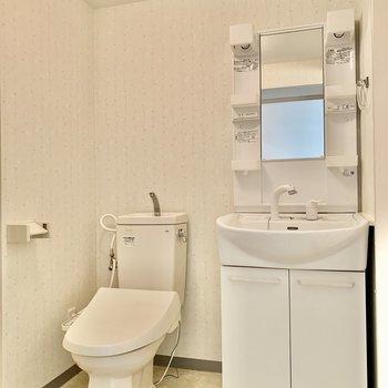 トイレも脱衣所にあります。