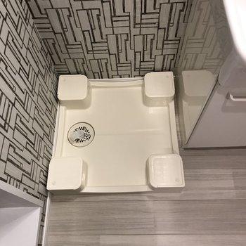 洗面台の横に