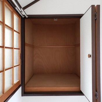 2Fのお部屋の小さな収納スペース。