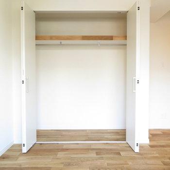 居室のクローゼットはガバッと大容量